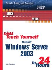 Cover of: Sams teach yourself Microsoft Windows Server 2003 in 24 hours