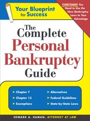 Cover of: The complete personal bankruptcy guide