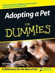 Cover of: Adopting a pet for dummies
