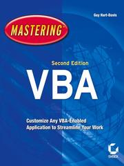 Cover of: Mastering Microsoft VBA