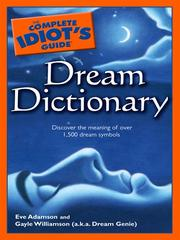 Cover of: The complete idiot's guide dream dictionary