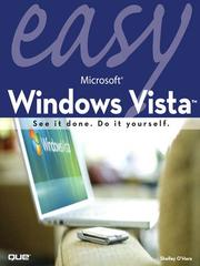 Cover of: Easy Microsoft Windows Vista