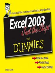 Cover of: Excel 2003 just the steps for dummies