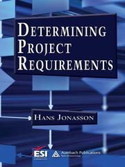Cover of: Determining project requirements