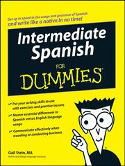 Cover of: Intermediate Spanish For Dummies