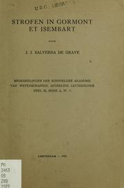 Cover of: Strofen in Gormont et Isembart
