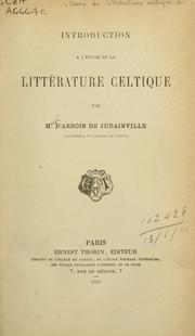 Cover of: Cours de littérature celtique