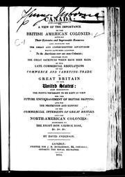 Cover of: Canada, or, A view of the importance of the British American colonies