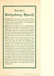 Cover of: Lincoln's Gettysburg speech
