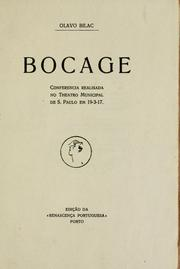 Cover of: Bocage