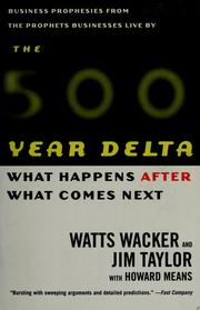 Cover of: The 500-year delta