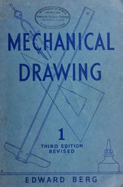 Cover of: Mechanical drawing