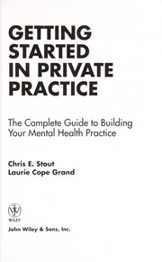Cover of: Getting started in private practice