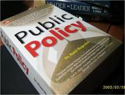 Cover of: Public Policy