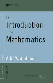 Cover of: An Introduction to Mathematics