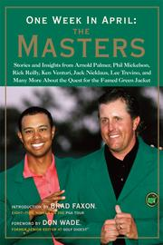 Cover of: One Week in April: The Masters