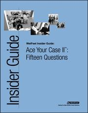 Cover of: Ace Your Case II™: Fifteen Questions