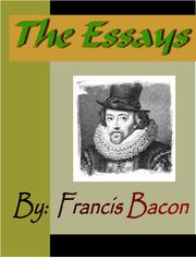 Cover of: The Essays