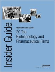 Cover of: 20 Top Biotechnology and Pharmaceutical Firms