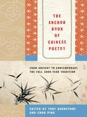 Cover of: The Anchor Book of Chinese Poetry