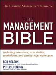 Cover of: The Management Bible