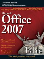 Cover of: Office 2007 Bible