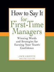 Cover of: How to Say It for First-Time Managers