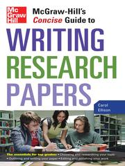 Cover of: McGraw-Hill's Concise Guide to Writing Research Papers