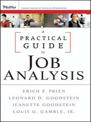 Cover of: A Practical Guide to Job Analysis
