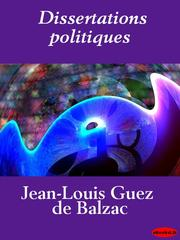 Cover of: Dissertations politiques