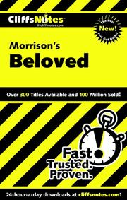 Cover of: CliffsNotes on Morrison's Beloved
