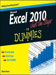 Cover of: Excel 2010 Just the Steps For Dummies®