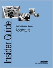 Cover of: Accenture: The WetFeet Insider Guide
