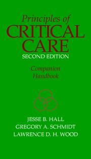 Cover of: Principles of Critical Care