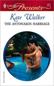 Cover of: The Antonakos Marriage