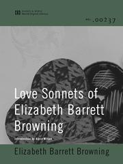 Cover of: Love Sonnets of Elizabeth Barrett Browning