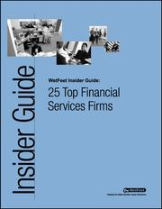 Cover of: 25 Top Financial Services Firms