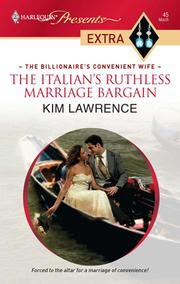 Cover of: The Italian's Ruthless Marriage Bargain