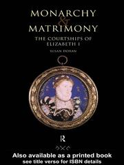 Cover of: Monarchy and Matrimony