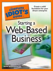 Cover of: The Complete Idiot's Guide to Starting a Web-Based Business