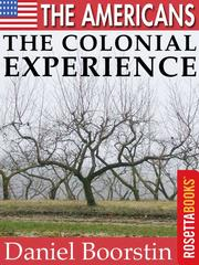 Cover of: The Americans: The Colonial Experience