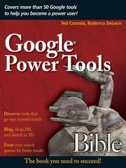 Cover of: Google Power Tools Bible