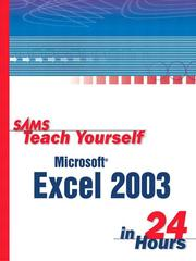Cover of: Sams Teach Yourself Microsoft Office Excel 2003 in 24 Hours