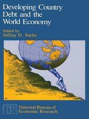 Cover of: Developing Country Debt and the World Economy