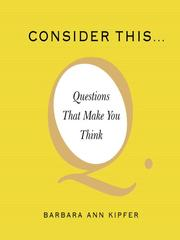 Cover of: Consider This...