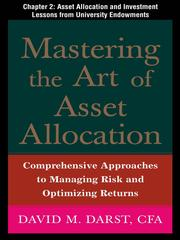 Cover of: Asset Allocation and Investment Lessons from University Endowments