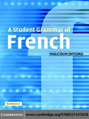 Cover of: A Student Grammar of French