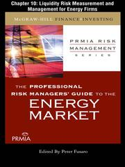 Cover of: Liquidity Risk Measurement and Management for Energy Firms