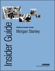Cover of: Morgan Stanley:  The WetFeet Insider Guide