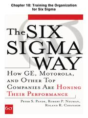 Cover of: Training the Organization for Six Sigma